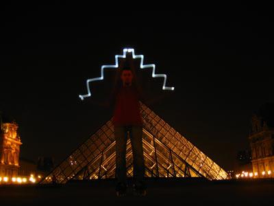 Pyramide du Louvre redessinée