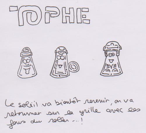 BD Roller – Les Bulles du Tophe #46 - A tribute to Tron - études préliminaires