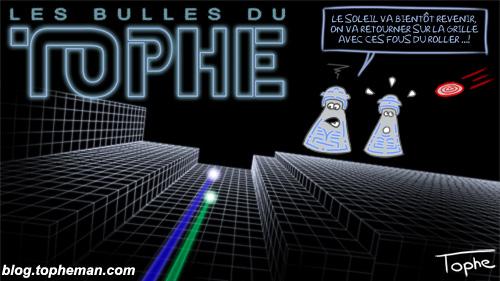 BD Roller – Les Bulles du Tophe #46 - A tribute to Tron