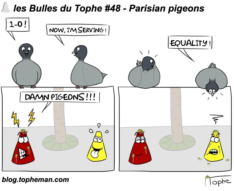 les bulles du tophe 48 pigeons parisiens. Black Bedroom Furniture Sets. Home Design Ideas