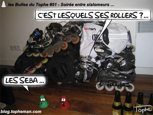 BD Roller – Les Bulles du Tophe #51 - Soirée entre slalomeurs - Patins SEBA