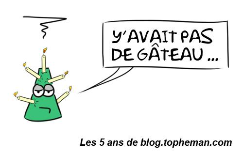 Anniversaire - 5 ans de blog Topheman