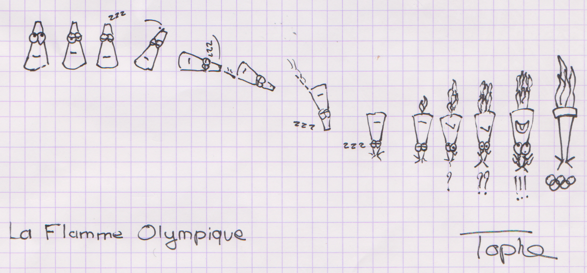 La flamme olympique - Flamme olympique dessin ...