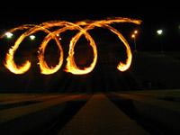 Fire writing - la corde