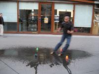 Slide trottoir mouillé - Eric