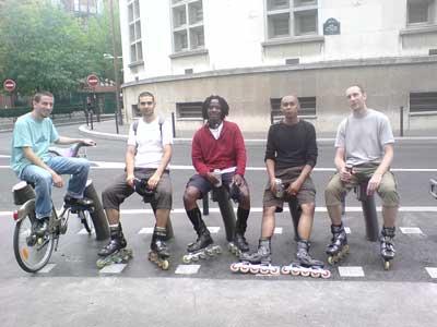 De gauche à droite: Le Directeur, le Paresseux, The Sniper, Dr Vicious, Le Grand