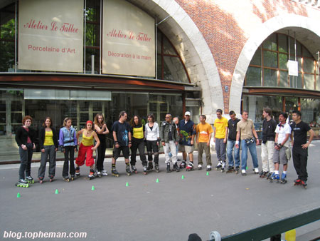 Les patineurs à Daumesnil